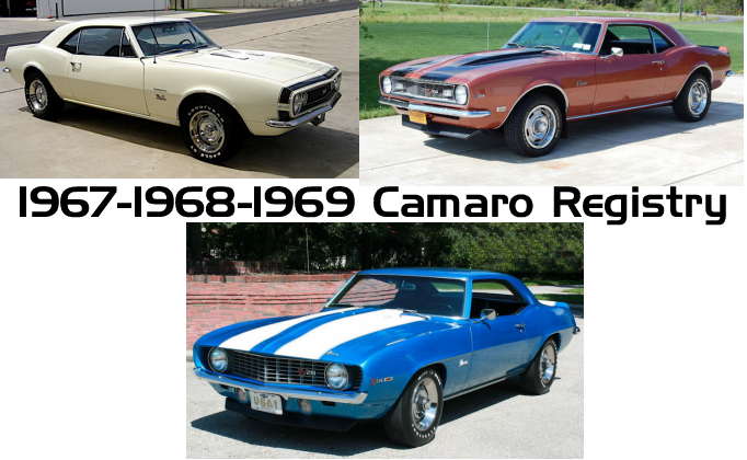 CAMARO REGISTRY © - All Rights Reserved